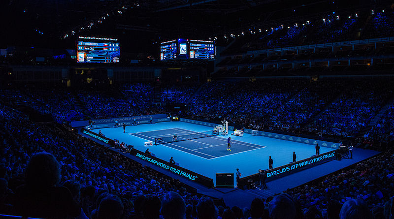 File:2014-11-12 2014 ATP World Tour Finals show court during Marin Cilic vs Thomas Berdych match 3 by Michael Frey.jpg